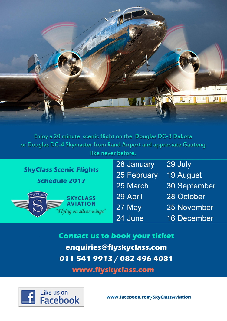 2017 Skyclass scenic flight schedule