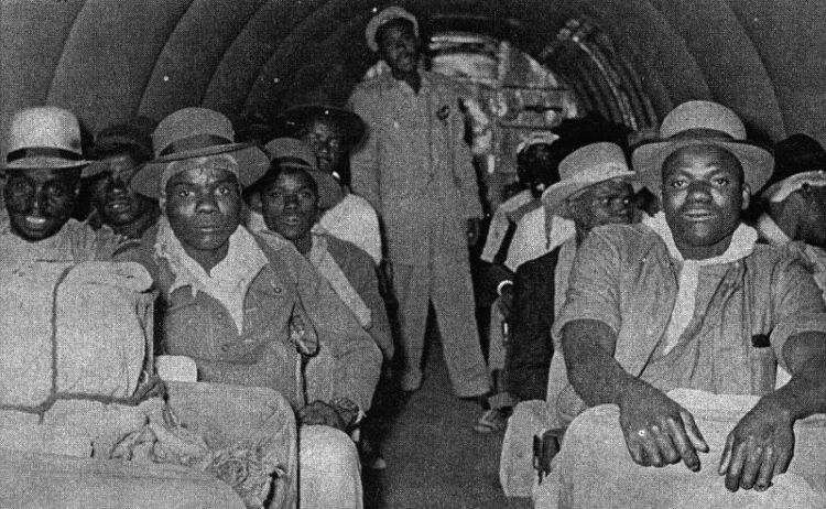 Africair_Wenela_Mine_workers_on_board